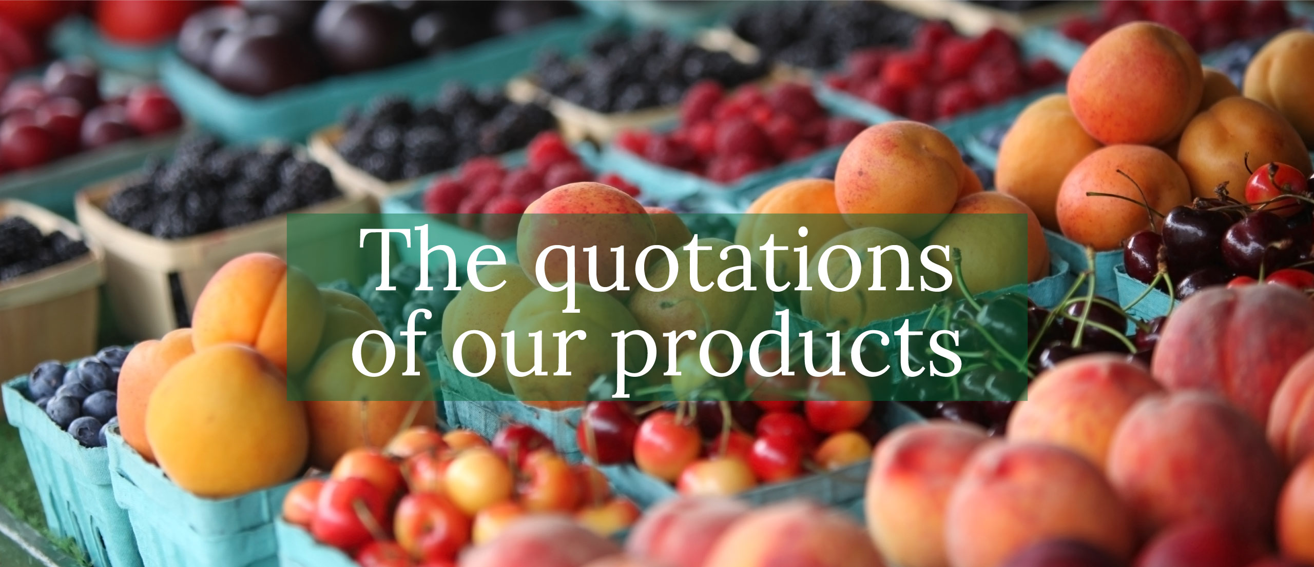 The quotations of our products - Ortofrutta Lo Casto